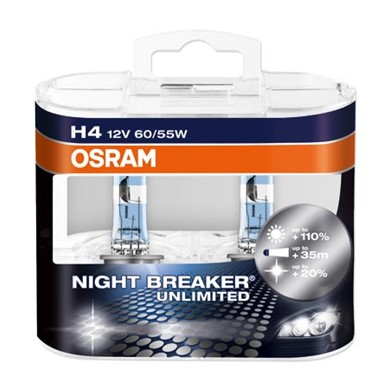 OSRAM NIGHT BREAKER® UNLIMITED H4 Duo Box