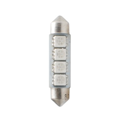LED L311B - C5W 41mm, 4x SMD5050, CANBUS, blue