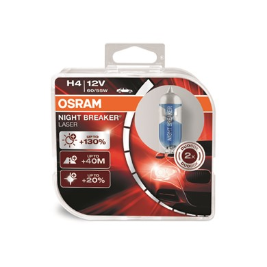 OSRAM NIGHT BREAKER® LASER H4 Duo Box