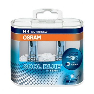 OSRAM COOL BLUE Intense H4 12V 60/55W DUO
